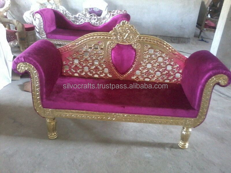 Wedding Stage Sofa Set U0026 Chairs For Bride U0026 Groom From Classic Silvocrafts  (indian Wedding Furniture)   Buy Wedding Stage Sofa Set U0026 Chairs,Wedding ...