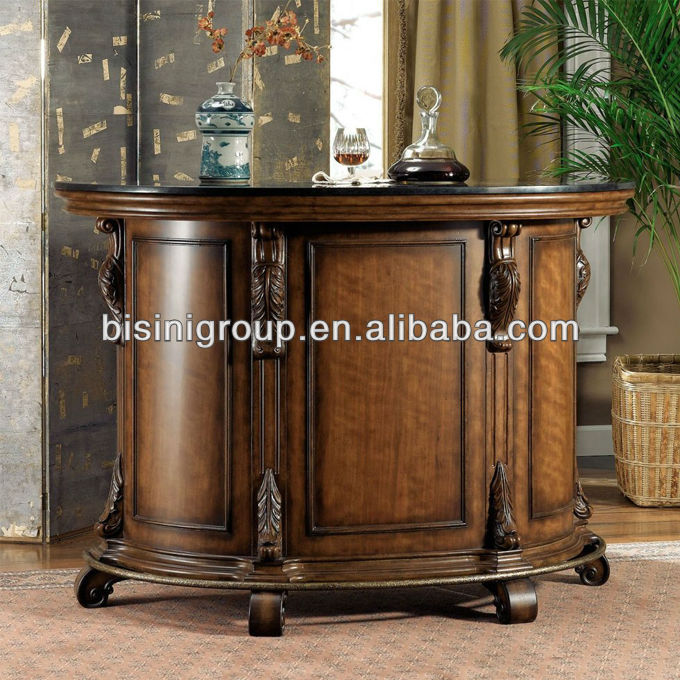 Bisini Solid Wood Bar Counter With