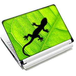 """Universal Size Laptop Notbook Decal Skin Sticker Protector Laptop Skin For 11.6"""" 12"""" 12.1"""" 12.2"""" 12.5"""" 13.3"""" 14"""" 15"""" 15.4"""" 15.6"""" inch Apple Mac Pro MacAir HP Asus Aser Toshiba Dell Sony Lenovo,Includes 2 Wrist Pads, Green Gecko"""