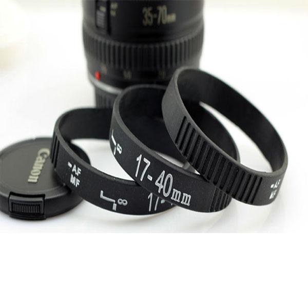 For Nikon Canon Lens Silicone Wristband Rubber Photographers Shot Bracelet  Xmas Dslr - Buy Dslr Lens Wristband Strap 24-70mm/50mm/24-105mm,Lens Dslr