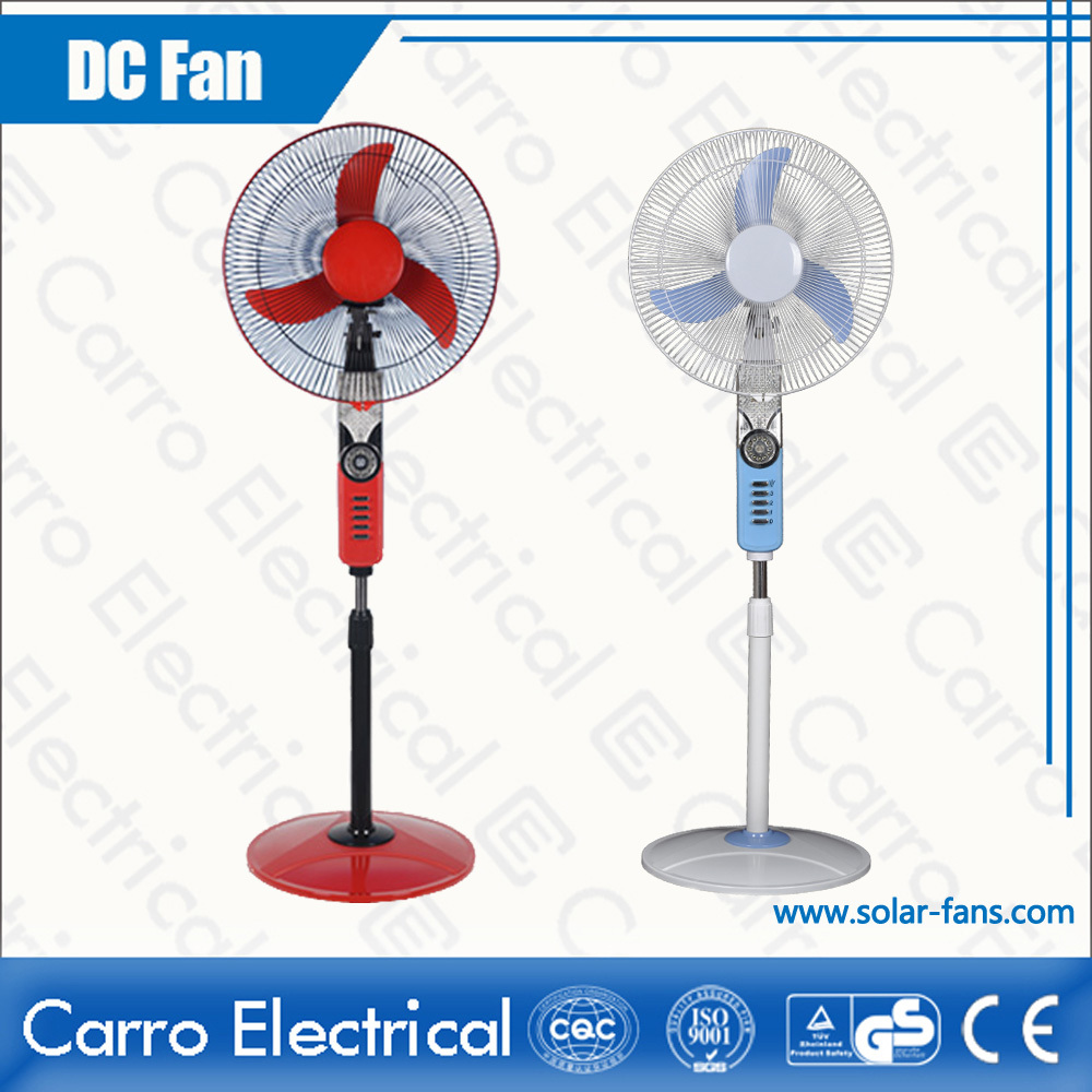 12V dual power supply AC/DC fan solar AC DC fan home ADC-12V16H with led lights