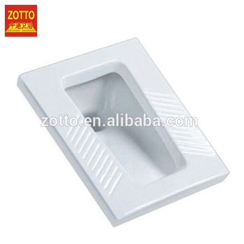 Hot selling white ceramic pans sanitaryware wc squatting pan squat toilet price