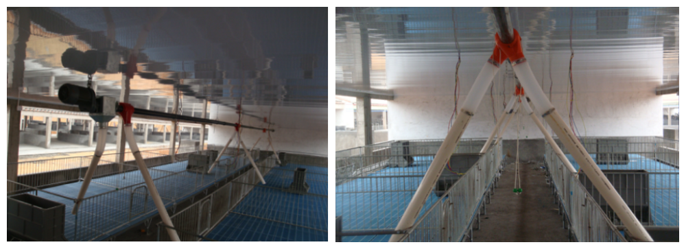 Fattening feeding system with drop tube