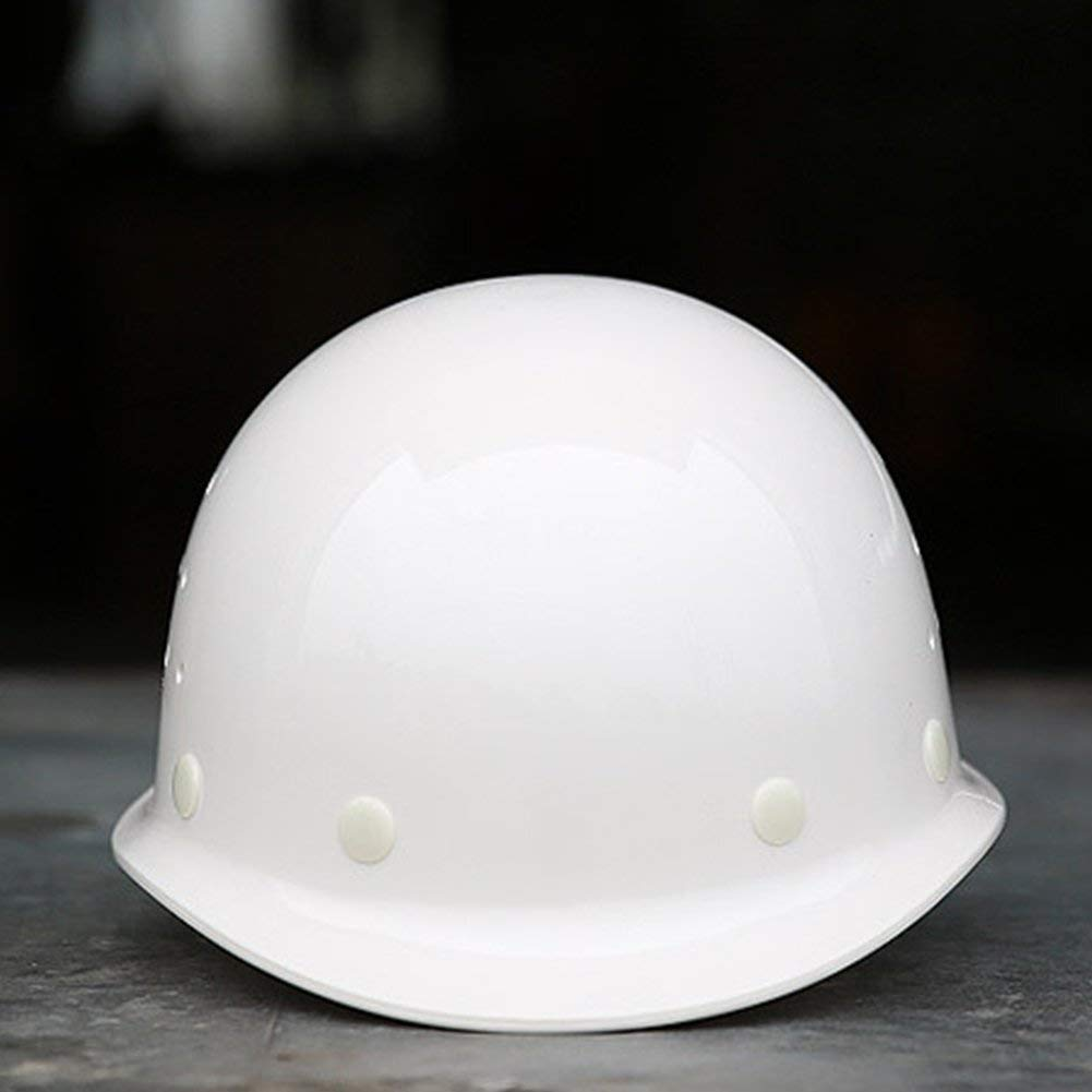 Construction Worker Helmet, Unisex Outdoor Work Hard Hat Construction Site Head Hitting Proof Safety Protective Helmet safety (white)
