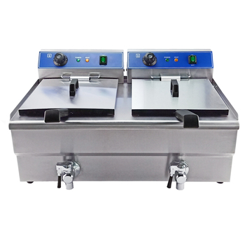 Restaurant used fries electric deep fryer/CE certificated DL-162V dulong industrial fryer