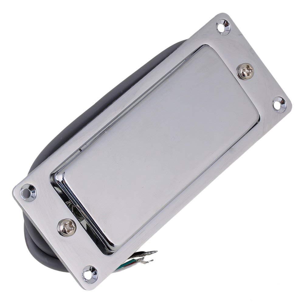 BQLZR Silver Guitar Humbucker Pickup Sealed for Mini Guitar Electric Guitar Replacement