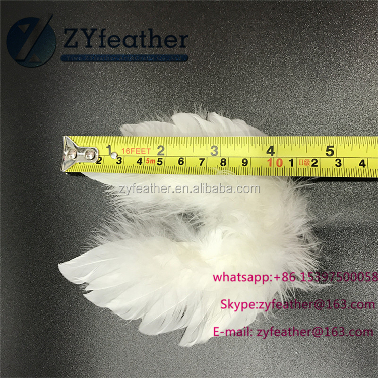 Wholesale party decoration fabulous white small feather angel wings 4*4inches