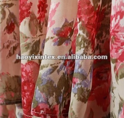 Colorful Polyester Printed Chiffon for Skirt