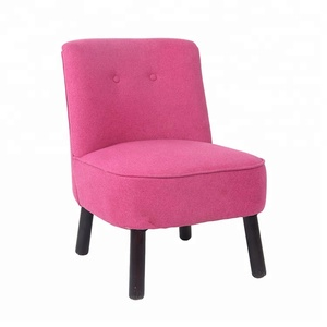 Modern lovely wooden legs fabric home goods fine pink dining chair