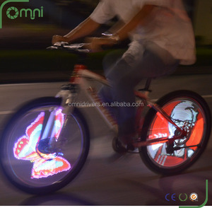 2016 USB rechargeable glow sticks diy programmable bicycle wheel spoke light