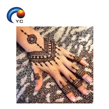 Henna Adhesive Sticker Stencil Tattoo With Hight Quality Henna Style