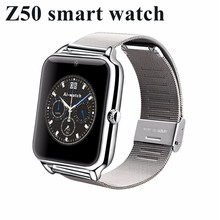 2016 Top selling metal bluetooth metal z50 smart watch factory price for iphone/android 4.0 Smart Watch U8 DZ09