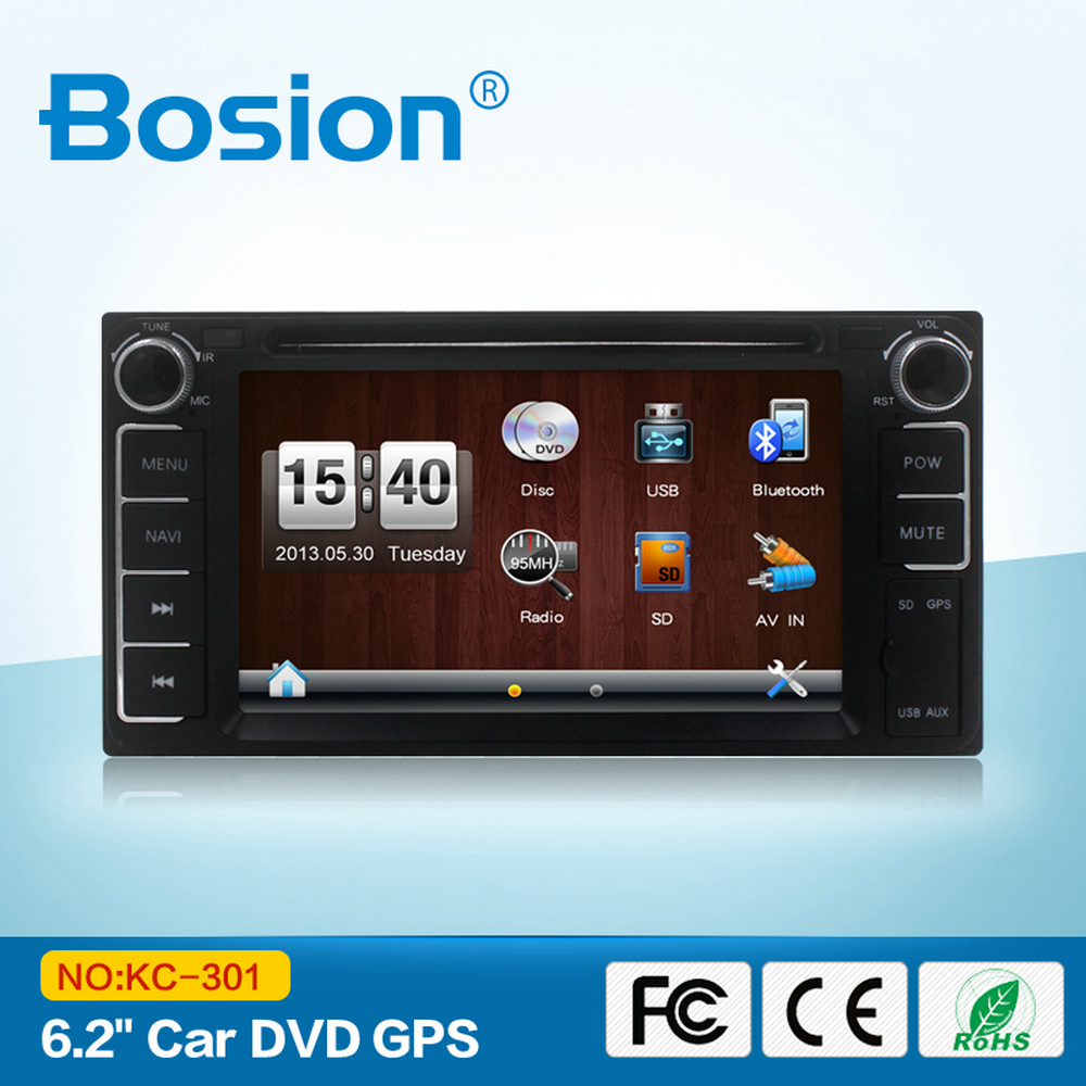 The Car DVD Plary GPS for Toyota Camry Map SD Card with Bluetooth Radio and Rear Camera Input