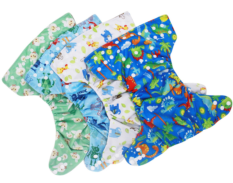 Bamboo charcoal inner baby cloth diaper reusable cloth diaper with double leg gusset baby diapers wholesale