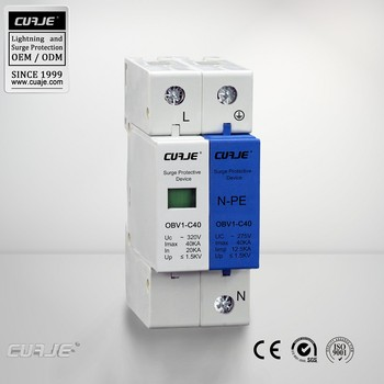 OEM SPD, Single Phase N-PE 40kA Surge Protector