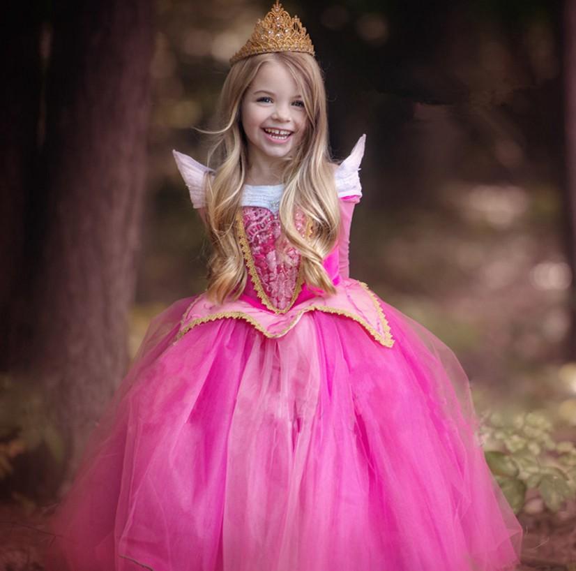 2016 en stock alta calidad Bella Durmiente princesa vestido de ...