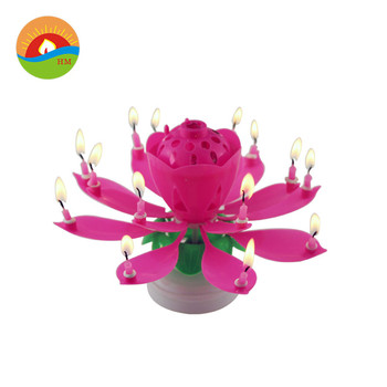 Flower music candle rose and lotus flower shape buy flower candle flower music candle rose and lotus flower shape mightylinksfo