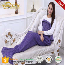 Soft For All Reason Women Sleeping Mermaid Tail Blanket Crocheted