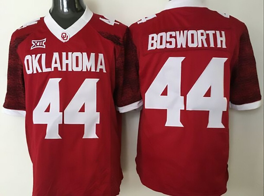 Get Quotations · NCAA Man Football Jersey Oklahoma Sooners BOSWORTH RED 44  Man Football Jersey 29cd8ec53