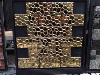 Dmetall Wandfliesen Gold Edelstahl Mosaikfliesen Metall Mosaik - Mosaik fliesen metallic