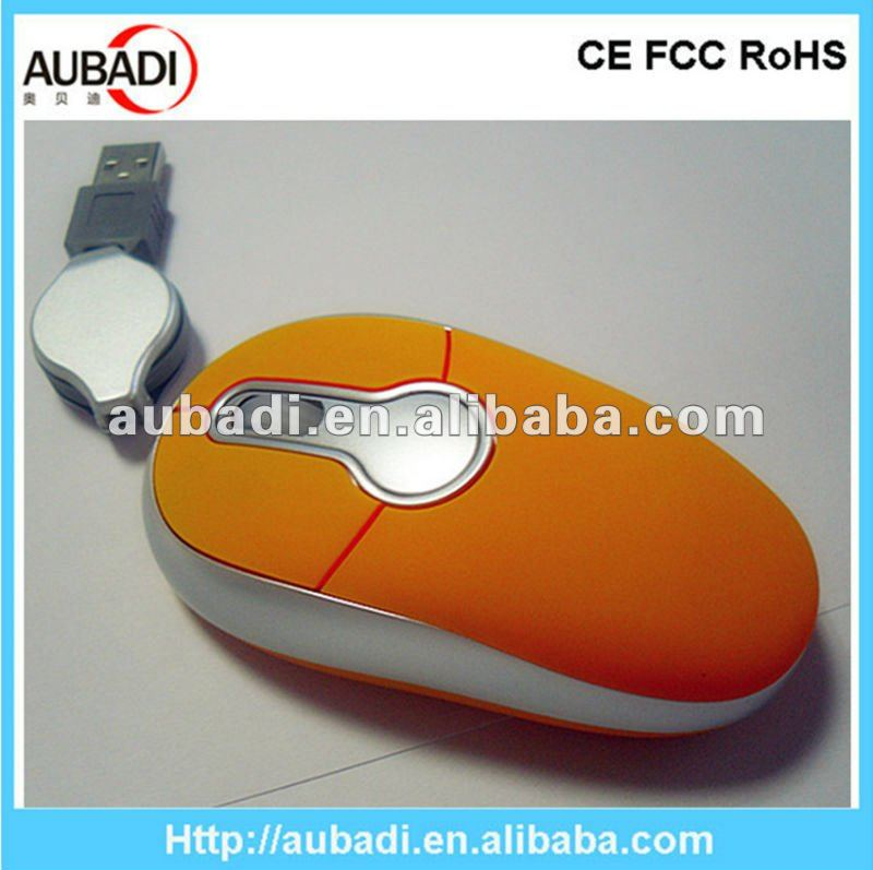2013 Light Up Computer Retractable Mouse