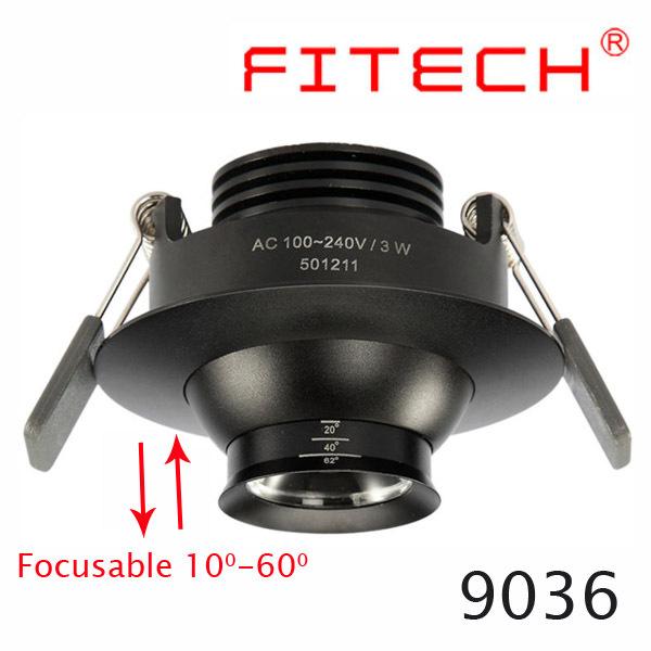 3w Eyeball Led Recessed Down Light Adjustable Beam Rotating 360 ...