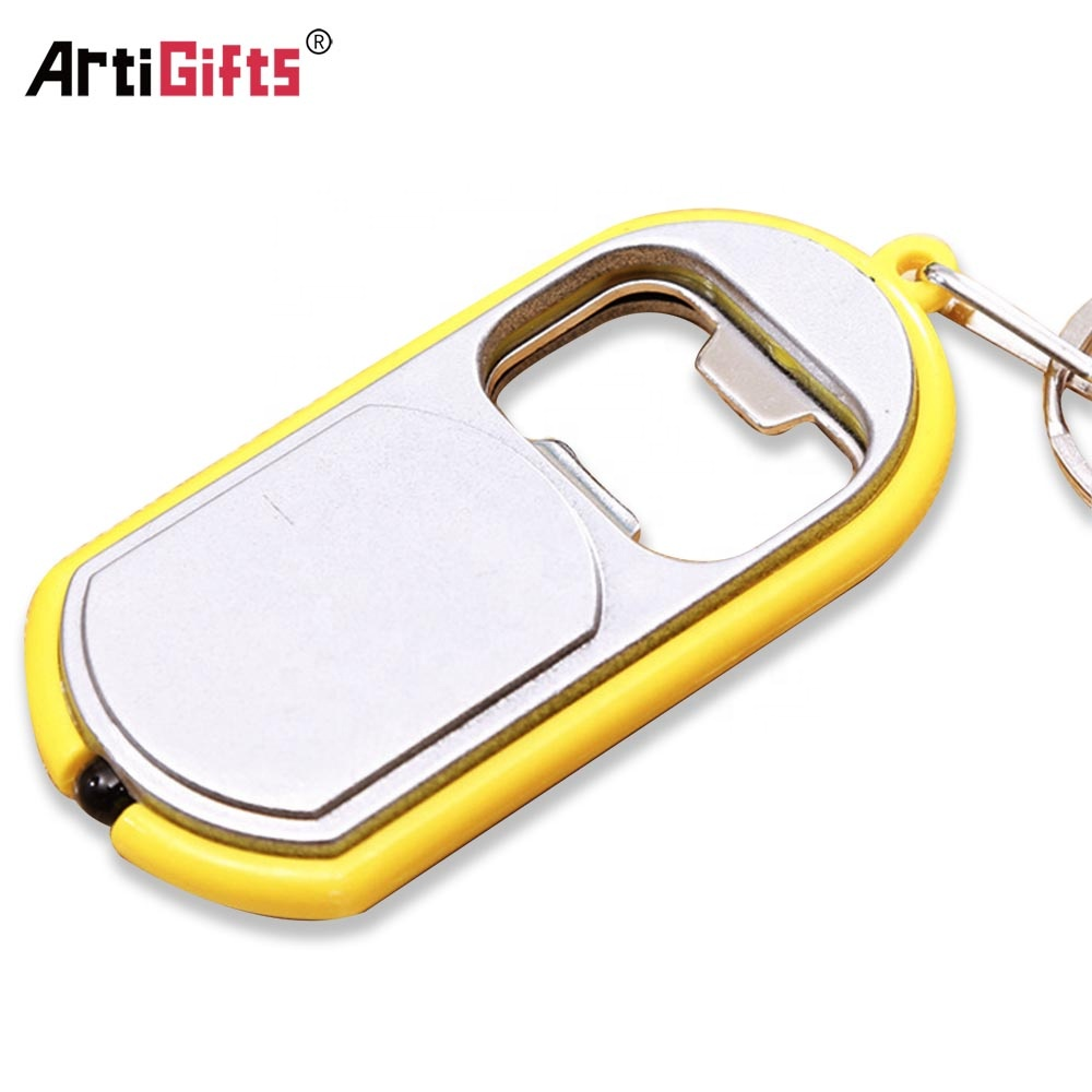 Printing custom logo design plastic promotion souvenir gift led flashlight key ring keychain