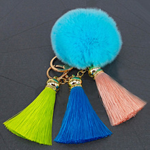 Yongze decorative pom pom tassel charm and pendants bag ball tassel 2018 keychain fluffy