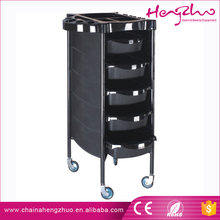 Beauty Salon Manufacturer mobile hair cutting tool cart 5-level metal & plastic Baber Trolley