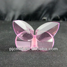 beautiful crystal glass butterfly for home or wedding decoration