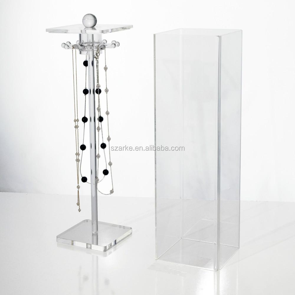 Hanging Necklace Keeper,Acrylic Jewelry Box Necklace Hooks,Jewelry ...