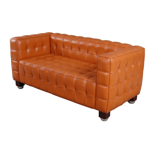 European modern leisure leather sofa 2 seater sofa Ikea casual office  parlor living room sofa