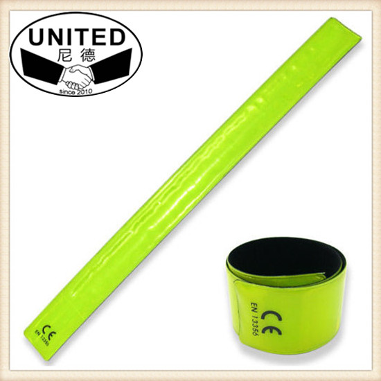 Reflective Cross Training Cyclist Arm Band Lime Reflexite Chain Guard