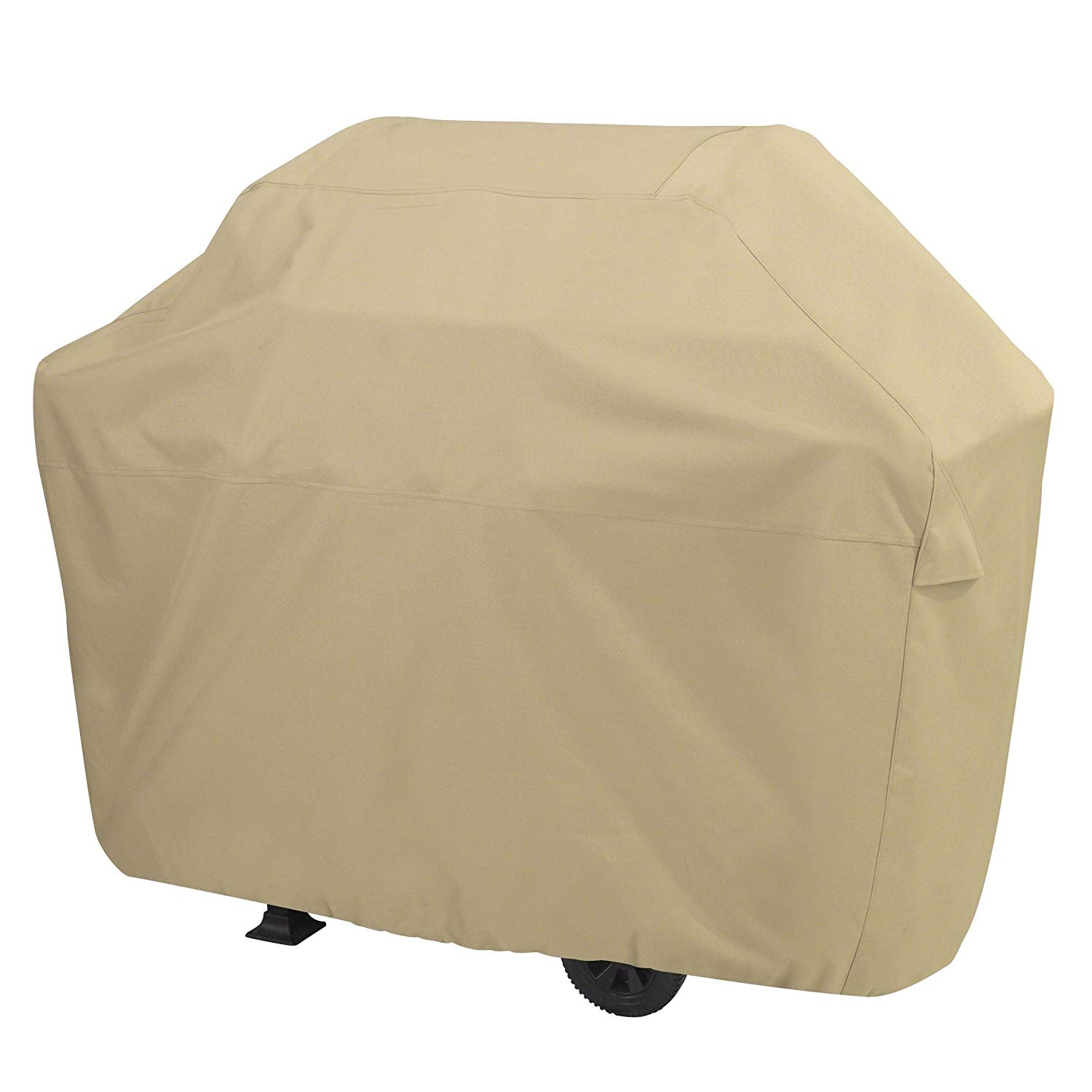 Ln 1 Piece Beige Gas Grill Cover 71 Inch, Water Resistant BBQ Cover Xx Large Patio Outdoor Barbecue Cover Durable Heavy Duty Material No Side Zippers Side Closure Zipper Line Grill Secure, Polyester