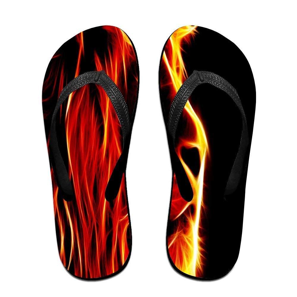 19e6e0b80 Get Quotations · Tailing Flip Flops Lion Fire Unisex Trendy Print Slippers  Beach Sandal