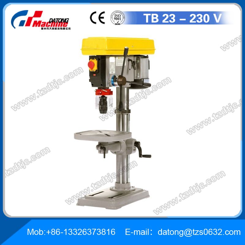 Small Drill Press TB23-230V in solid construction suitable for craftsmen users MT 2 up to 23 mm