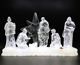 2018 Hot Sale Christmas Nativity Lights Set Wholesale Religious Figurine