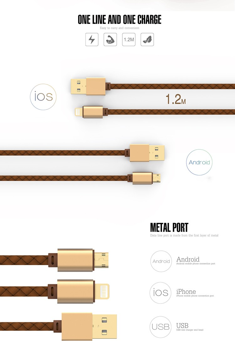 LDNIO New Arrival LS25 Bidirectional Tow Sided Quick Charging USB Cable for Android & IOS