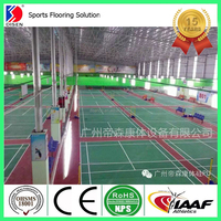 Indoor PU/polyurethane Badminton sports court flooring