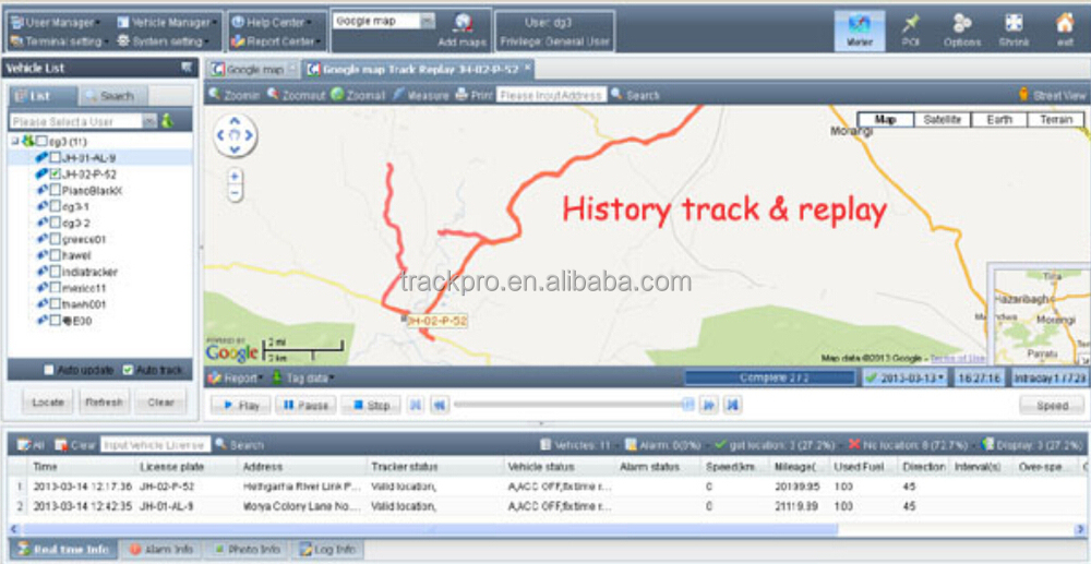gps vehicle tracking server software for trackr device fleet VT301 MT90  T311, View gps vehicle tracking server software, TRACKPRO Product Details  from