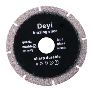 2017 newest high quality vacuum brazed durable chipping quick flexible cutting saw blade for stone
