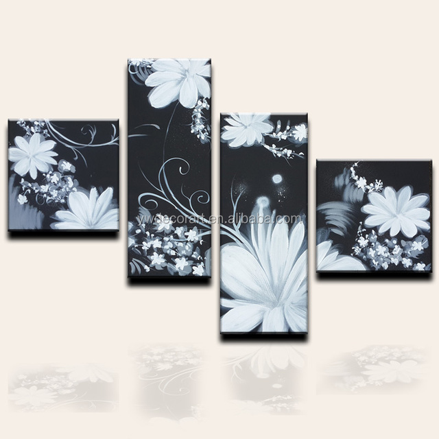 Fine white flower oil wholesale ideas wedding dresses from the china black and white flower art wholesale alibaba mightylinksfo Choice Image