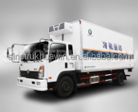 160HP 4*2 Mini Refrigerated cargo van Vegetable and fish transport Refrigerated Box Vans for sale