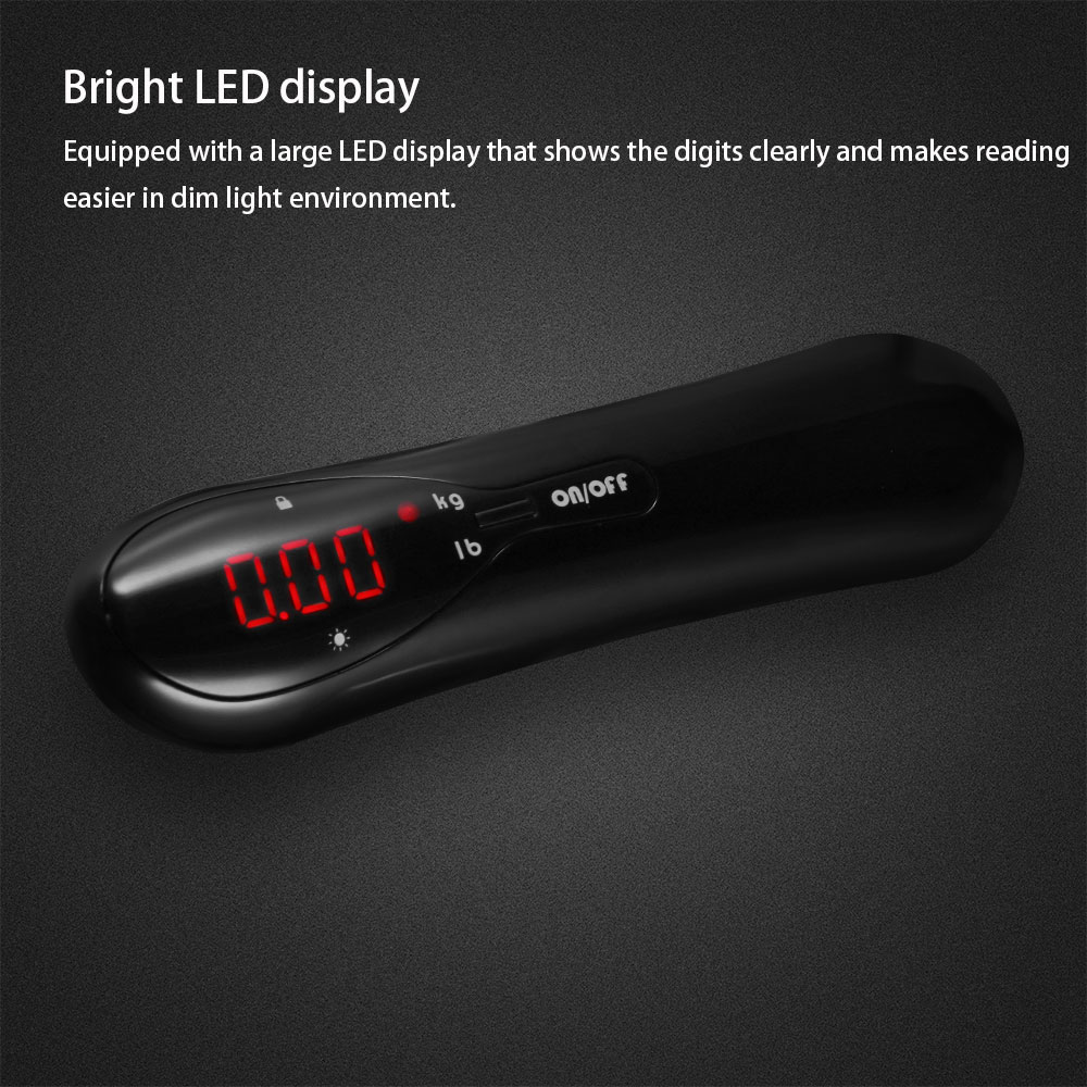 Hostweigh Portable Digital Pocket Travelling Digital LED Display Luggage Scale with Weighing Strap 50kg Travel Sutiable Scale
