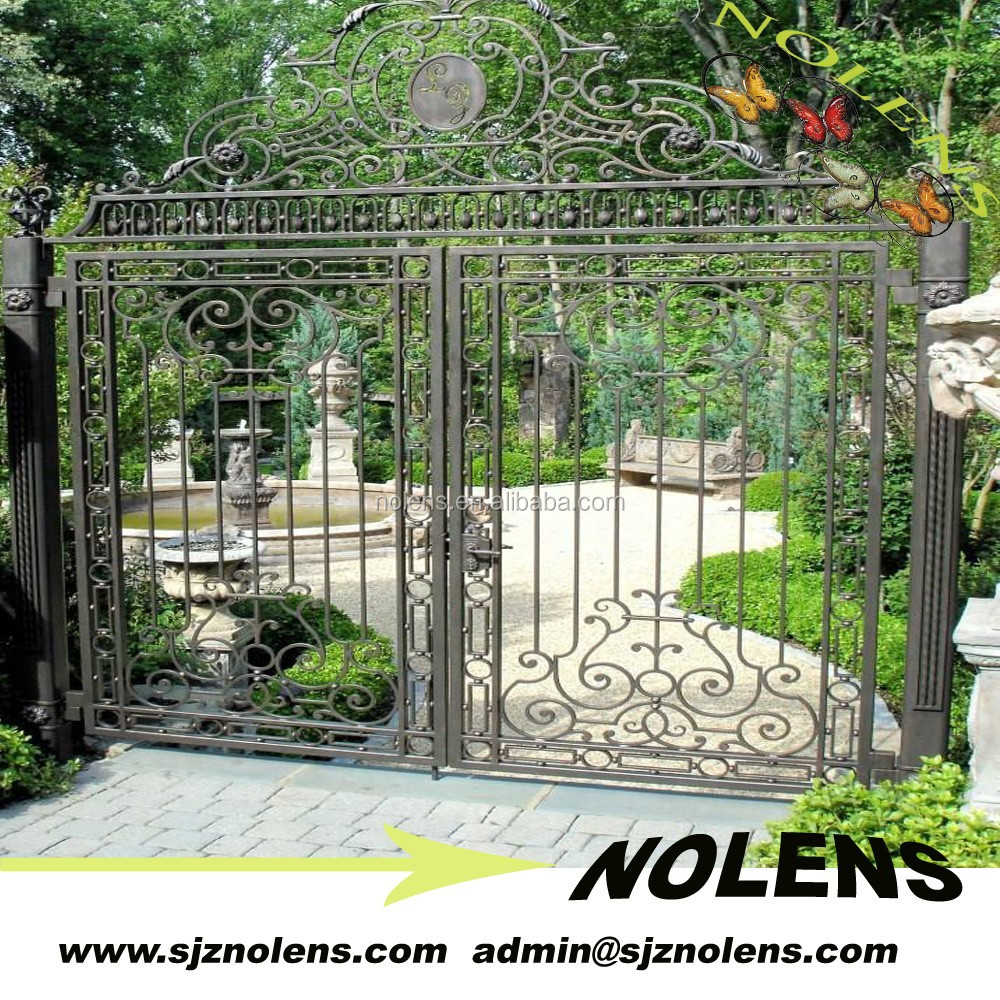 Garden different steel gate designs outdoor fence for Iron garden gate designs