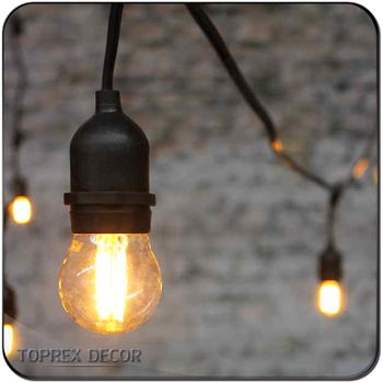 Party Vintage Patio String Lights Globe Light With Vintage Edison Bulbs