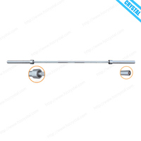 SJ-112-1 Durable strength training fitness equipment chromed OB curl bar barbell for weight lifting