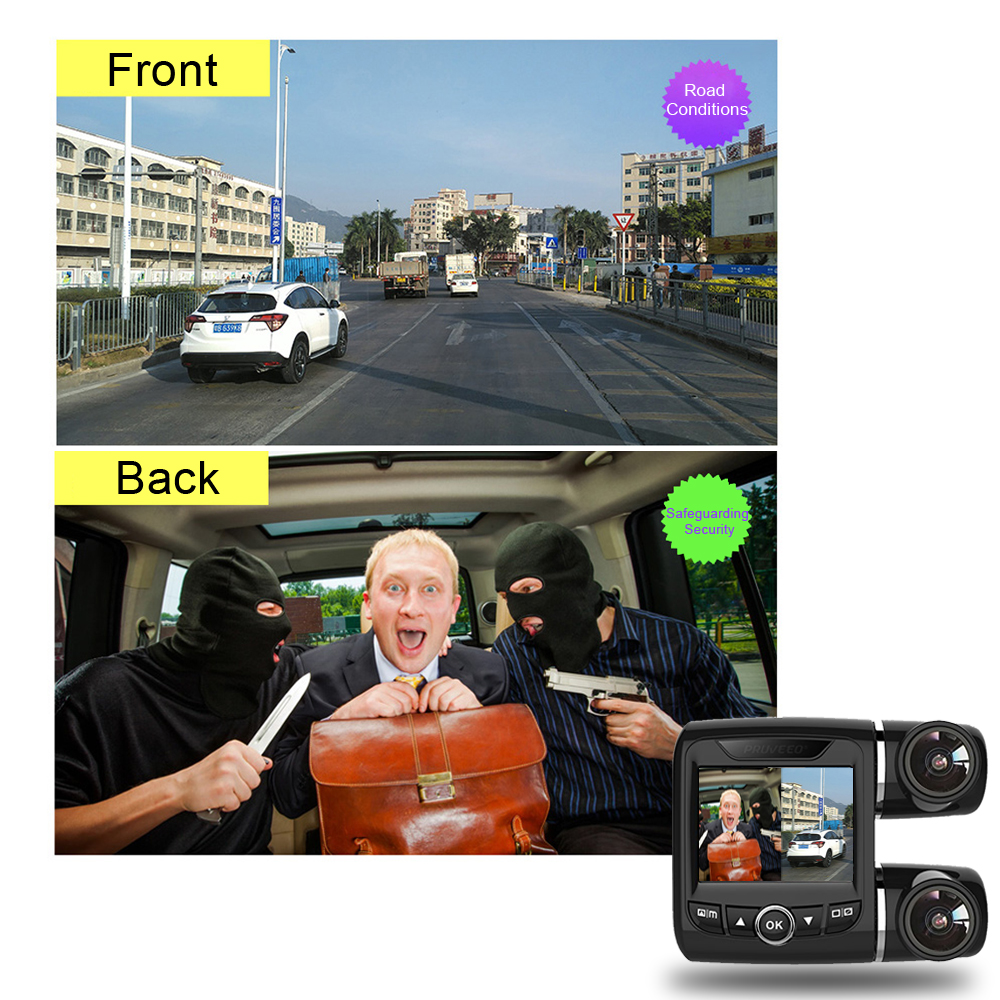 Auto Dual Dash Cam Dual Channel Sony IMX323 Novatek 96663 Full HD 1080P 30FPS  Video Car Dash Camera drive recorder