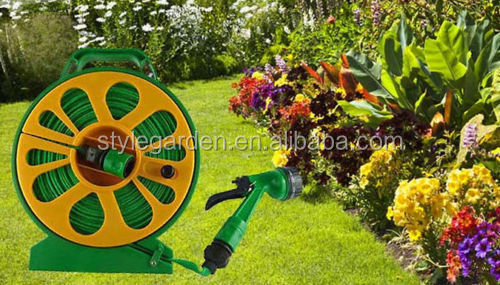 Garden Outdoor Watering 50 ft Flat Hose Pipe &Reel
