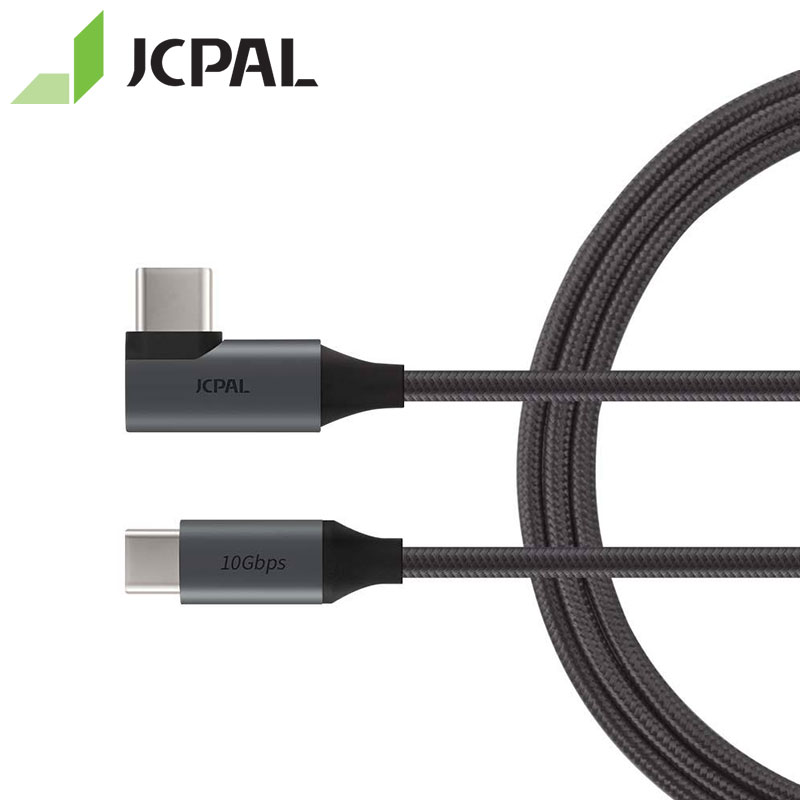 JCPAL FlexLink Cabo USB 3.1 Tipo C para C Gen 2 90-grau 10 PD 5gbps USB Charge Cable 87 W HDML 4 K 60Hz para MacBook Pro
